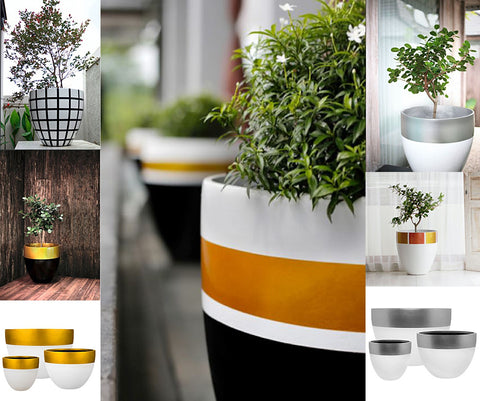 Metallic Planters from Spa Living