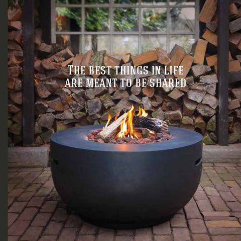 Cocoon Table fire bowl