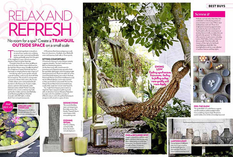 Modern Gardens Magazine, review of Spa Living Chiselled Bowl and Water Feature