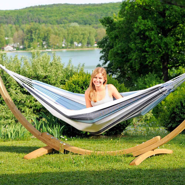 Garden Hammock with Wooden Stand - Spa Living