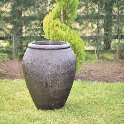Apollo Tapered Planter Iron Ore, Spa Living
