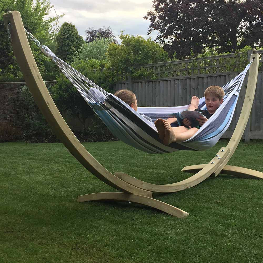 ... Apollo Garden Hammock And Wooden Stand   Spa Living ...