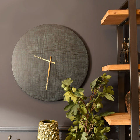 Hue Black & Green Wall Clock