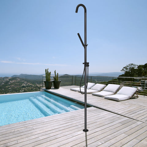 Marine Pedestal Outdoor Shower [Matt Black]