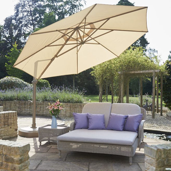 Evesham Double Outdoor Rattan Sun Lounger, Spa Living