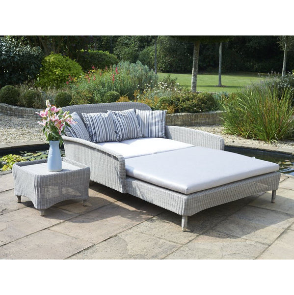 Evesham Double Outdoor Rattan Sun Lounger, Outdoor Garden Furniture - Spa Living
