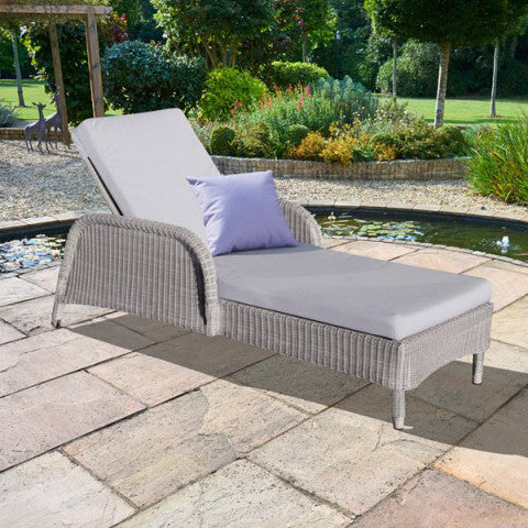 Evesham Outdoor Rattan Sun Lounger, Outdoor Garden Furniture - Spa Living