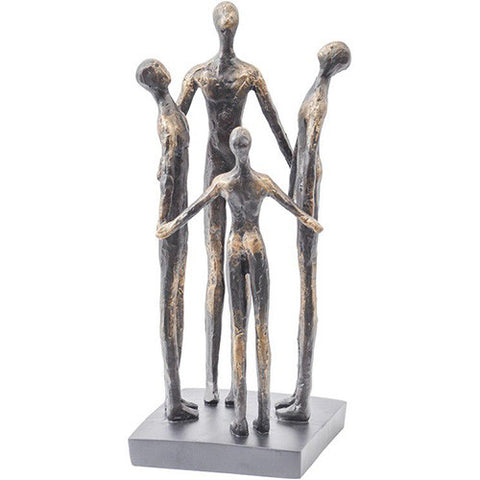Family Circle Bronze Resin Sculpture - Spa Living