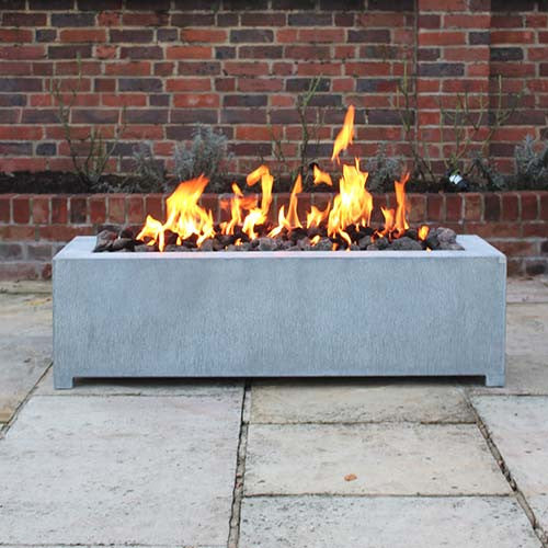 Vulcan Zinc Gas Outdoor Firepit, Outdoor Fires and Fire Pits - Spa Living
