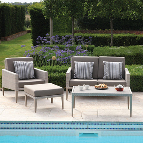 Hampstead Rattan Outdoor Two Seater Sofa, Outdoor Garden Furniture - Spa Living
