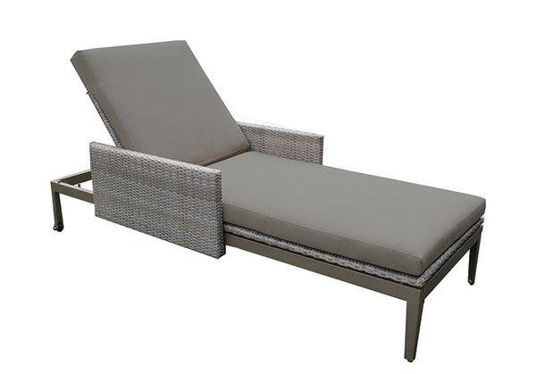 Hampstead Outdoor Rattan Sun Lounger, Outdoor Garden Furniture - Spa Living