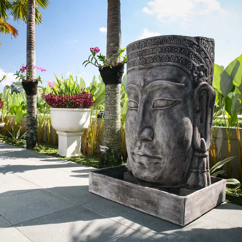Khmer Buddha Large Water Feature - Spa Living