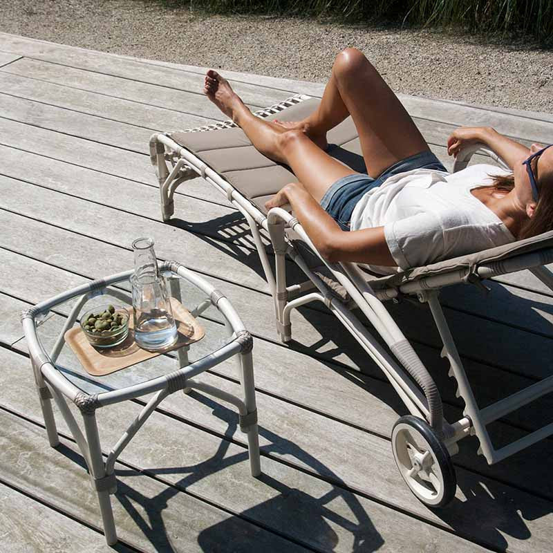 Lucy Poolside Lounger, Vincent Sheppard, Outdoor Spa Furniture - Spa Living