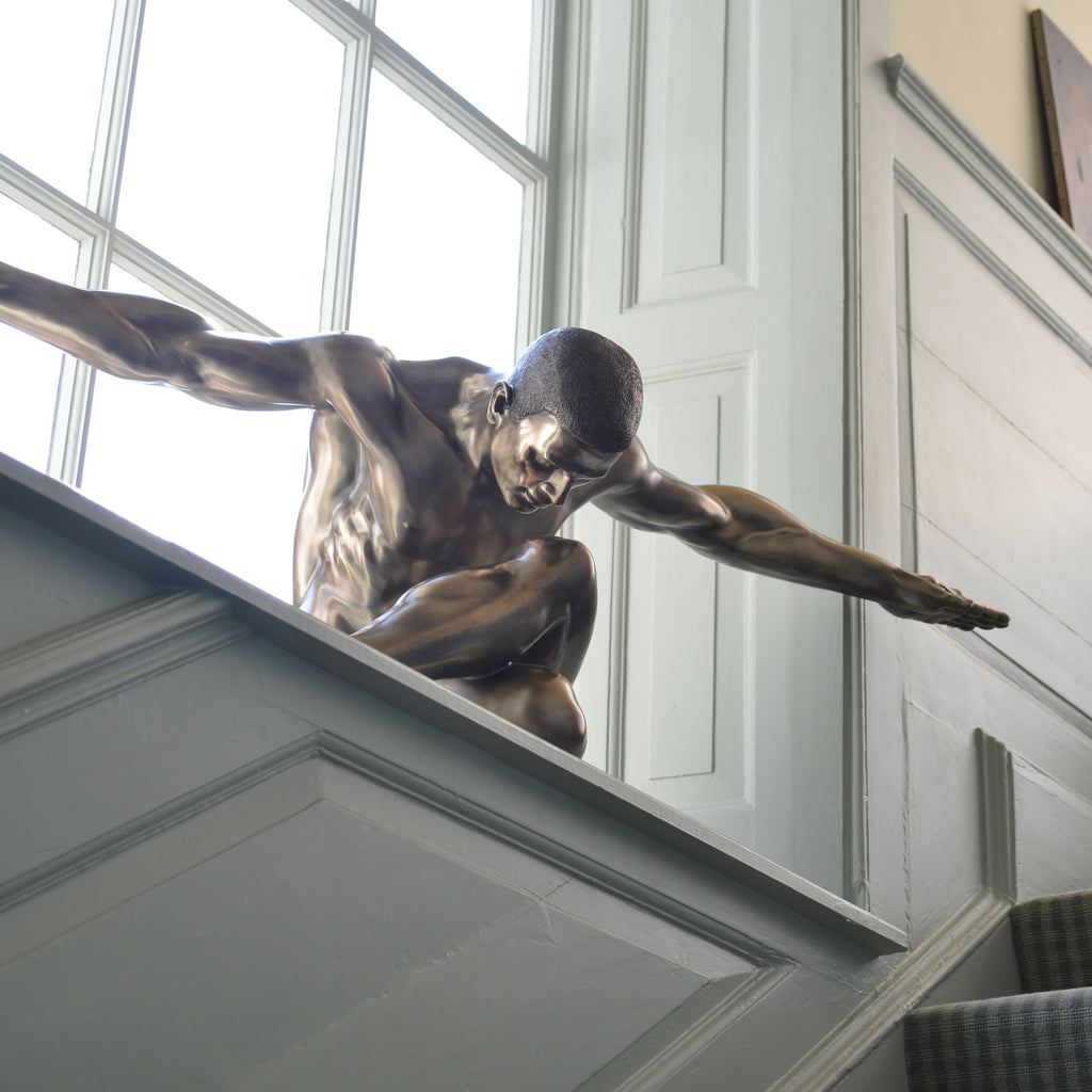Male Nude Bronze Large Sculpture - Spa Living