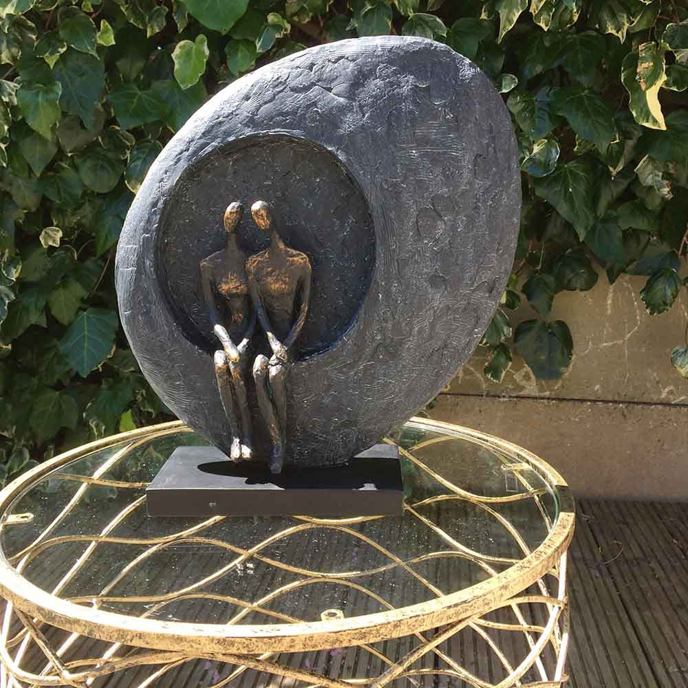 Moongazing Together Couple Abstract Sculpture - Spa Living