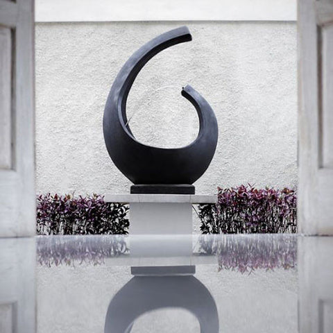 Noosa Fountain Cast Iron Modern Water Feature, Satu Bumi - Spa Living