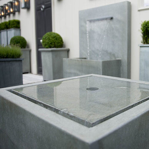 Qube Water Fountain, Water Feature, Spa Living - Spa Living