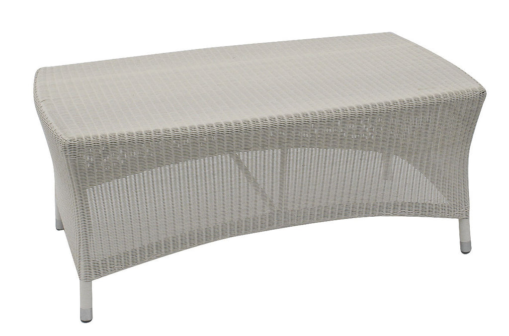 Sussex Rattan Outdoor Coffee Table Soft White - Spa Living