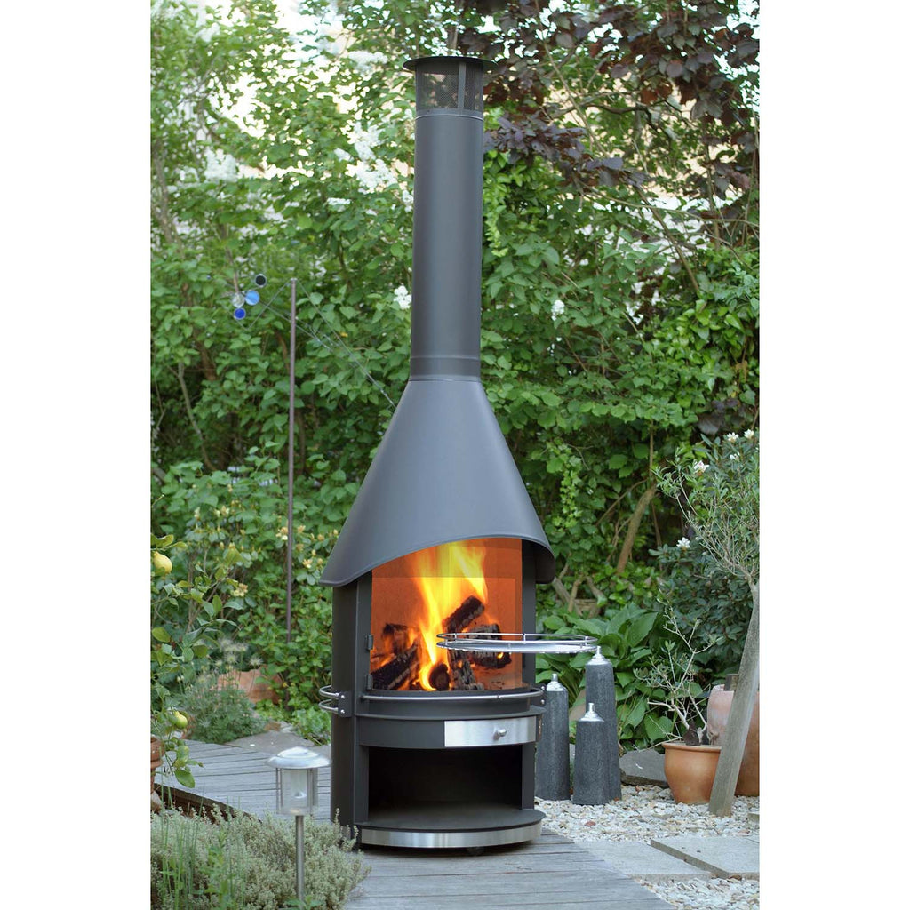 girse outdoor bbq stove and outdoor fireplace garden firepits