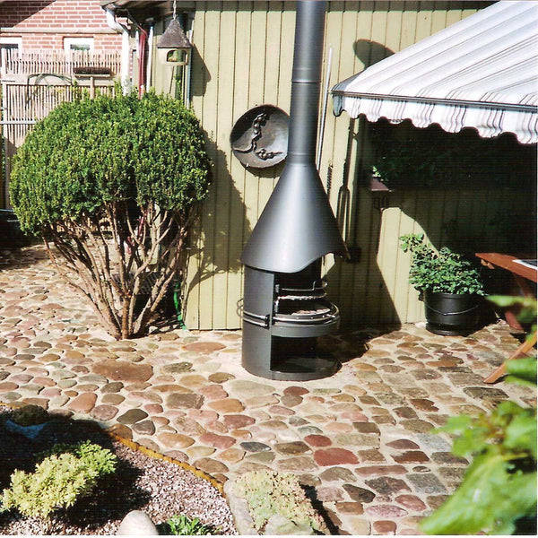 Girse Outdoor BBQ Stove and Outdoor Fireplace, Garden Firepits - Spa Living