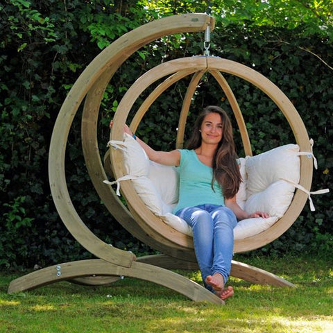 Globo Garden Swing Chair with Stand - Spa Living
