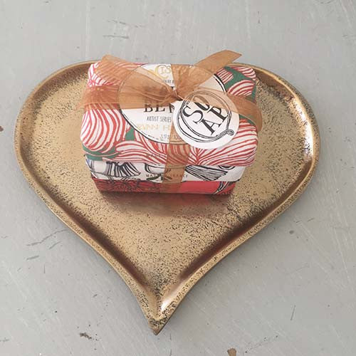 Love Heart Aluminium Trays, Silver, Copper and Gold, Set of 3 - Spa Living