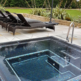Mosaic Square Vitality Pool [5 Person] - Spa Living