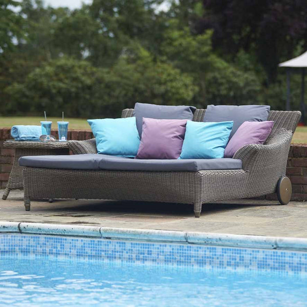 Double Day Bed,Valentine, Outdoor Garden Lounger - Spa Living
