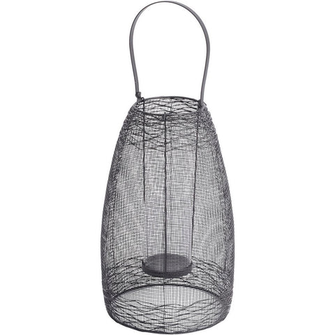 Coastal Woven Iron Fishing Lantern - Spa Living