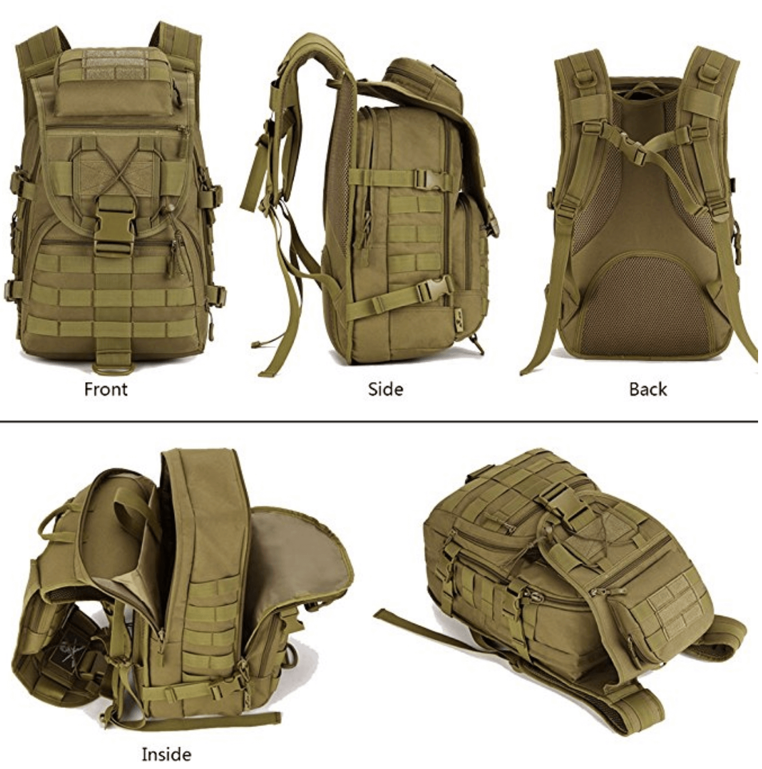 Tactical Backpack for Military, Bug Out Bag,