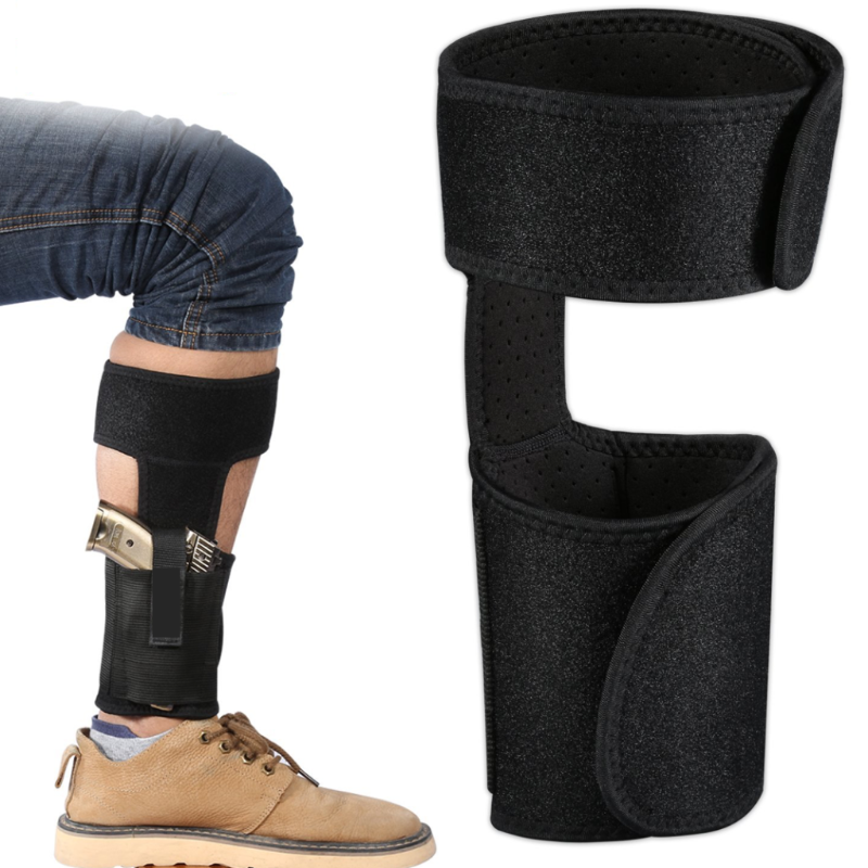 Concealed Carry Ankle Holster, Most Comfortable On The Market, Two Strap Ambidextrous, Neoprene