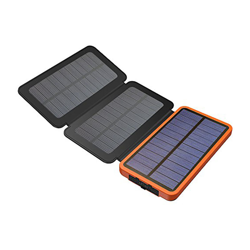 Folding 8000mah Solar Battery Charger For Smart Phones, iPads, Camping, Hiking and Survival