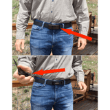 Knife Belt - Sharp Knife in the Buckle, Carry A Concealed Knife At All Times!
