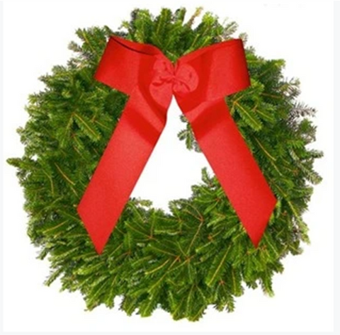 Frasier Fir Wreath w/ Bow: More in stock!