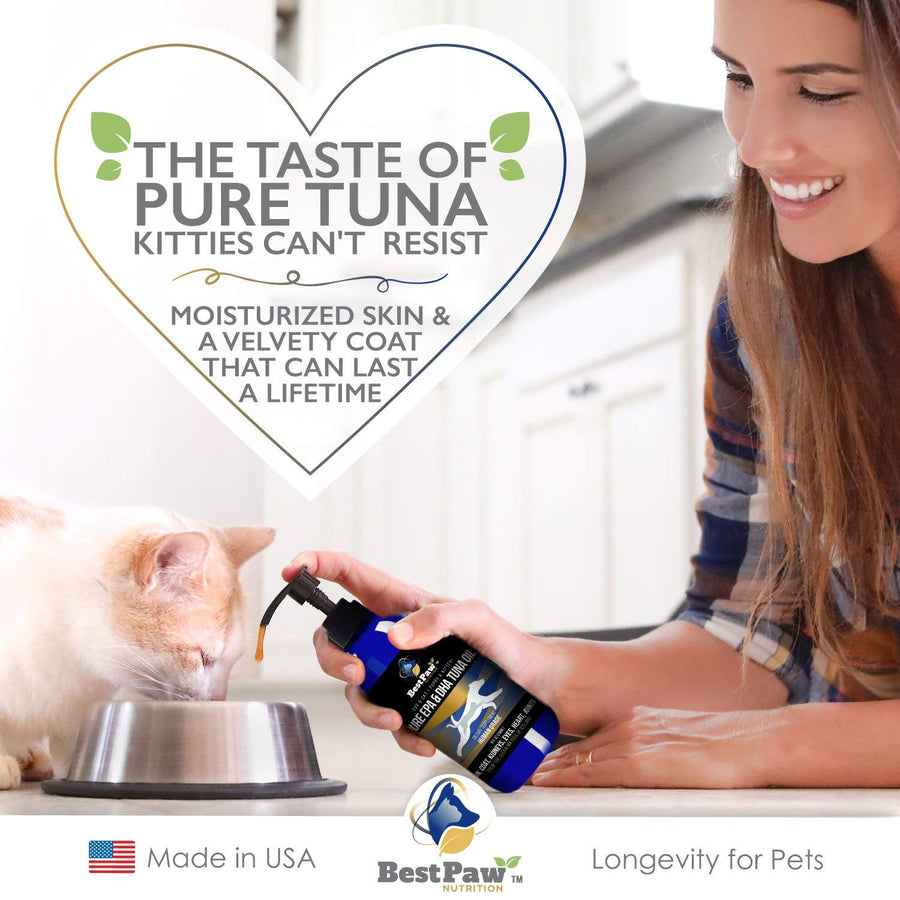 WILD ICELANDIC PURE EPA & DHA TUNA FISH OIL FOR DOGS & CATS SILKY COAT & DRY ITCHY SKIN RELIEF (8oz)