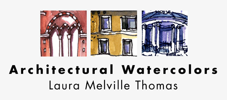 Architectural Watercolors by Laura Melville Thomas