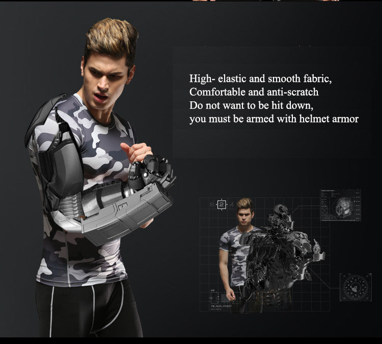 High- elastic and smooth fabric, Comfortable and anti-scratch.Do not want to be hit down, you must be armed with helmet armor