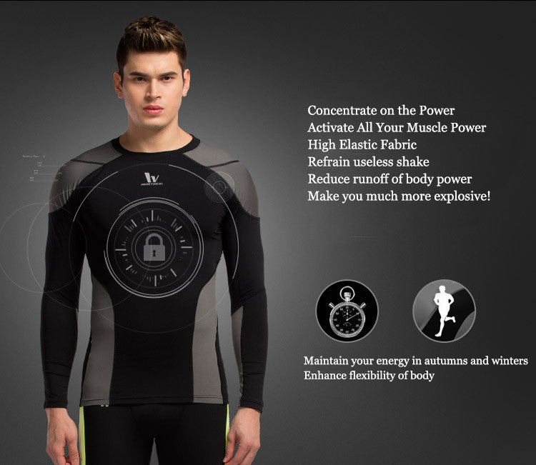 Concentrate on the Power,Activate All Your Muscle Power.High Elastic Fabric ,Refrain useless shake ,Reduce runoff of body power.Make you much more explosive!Maintain your energy in autumns and winters,Enhance flexibility of body