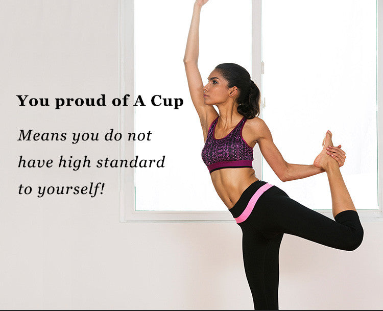 You proud of A Cup,Means you do not have high standard to yourself!