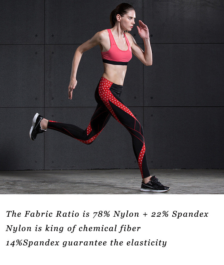 The Fabric Ratio is 78% Nylon + 22% Spandex; Nylon is king of chemical fiber; 14%Spandex guarantee the elasticity.