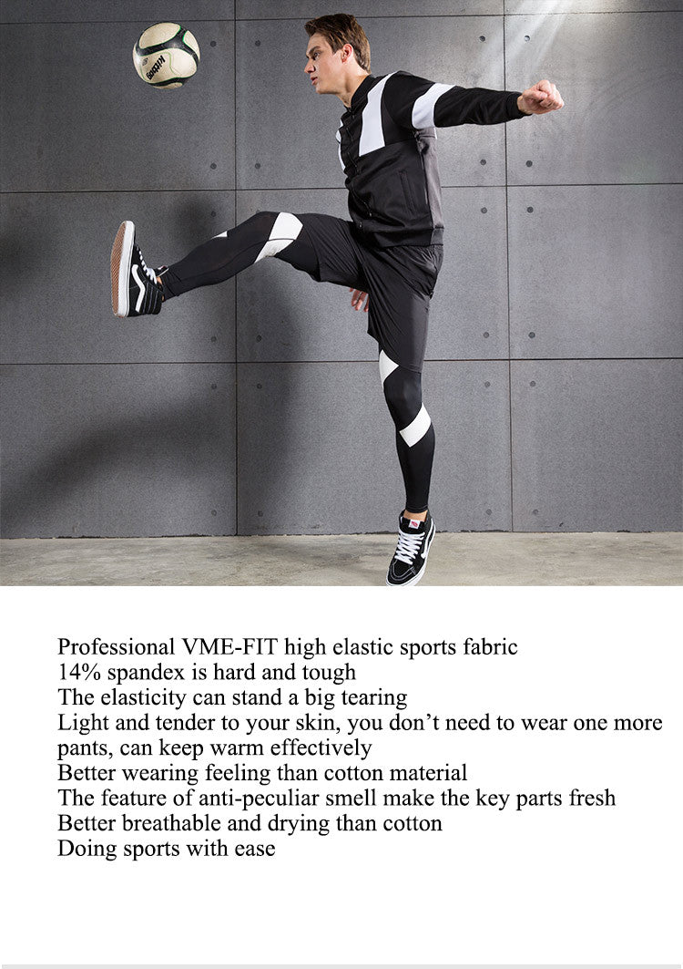 Professional VME-FIT high elastic sports fabric,14% spandex is hard and tough.The elasticity can stand a big tearing.Light and tender to your skin, you don't need to wear one more pants, can keep warm effectively.Better wearing feeling than cotton material.The feature of anti-peculiar smell make the key parts fresh.Better breathable and drying than cotton,Doing sports with ease