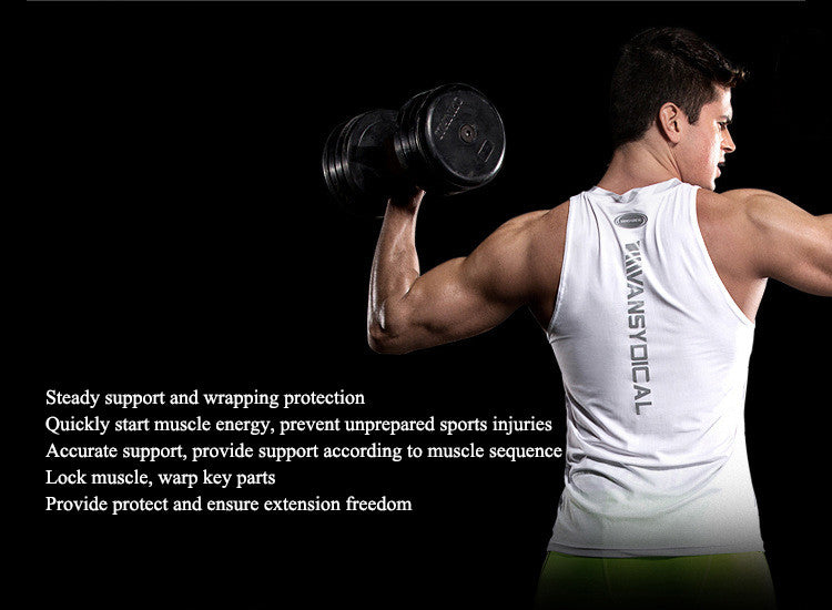 Steady support and wrapping protection,Quickly start muscle energy, prevent unprepared sports injuries.Accurate support, provide support according to muscle sequence.Lock muscle, warp key parts.Provide protect and ensure extension freedom