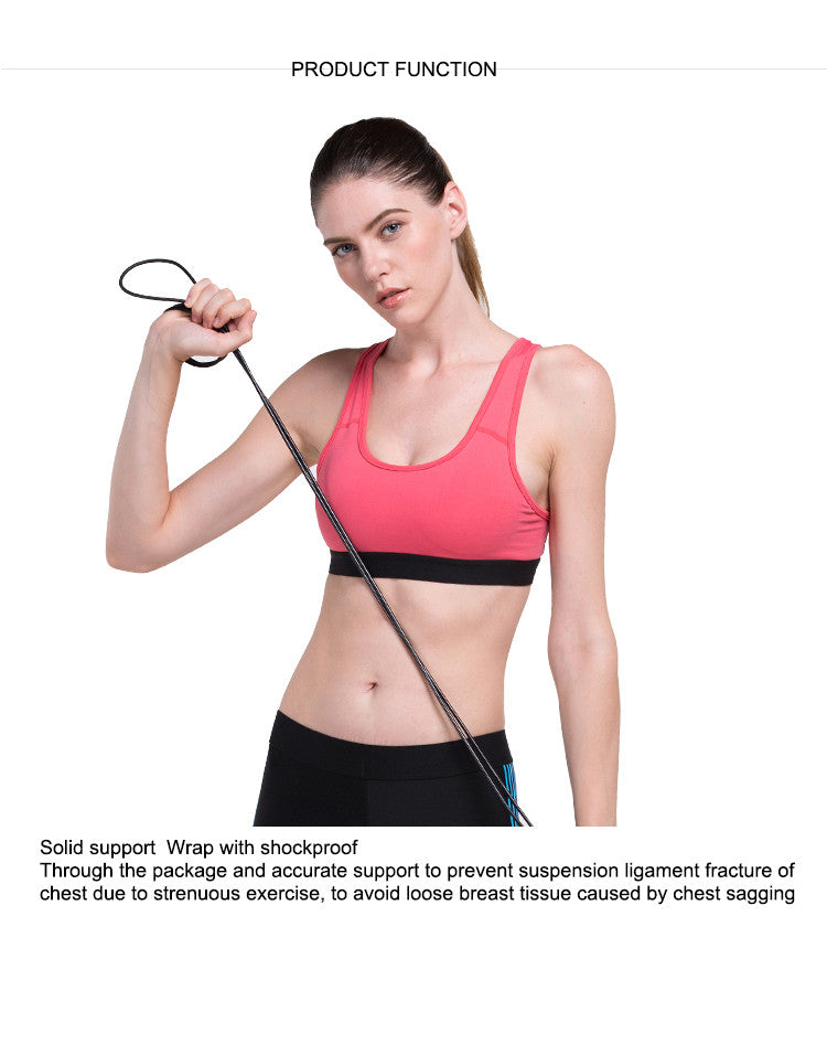 Solid support  Wrap with shockproof.Through the package and accurate support to prevent suspension ligament fracture of chest due to strenuous exercise, to avoid loose breast tissue caused by chest sagging