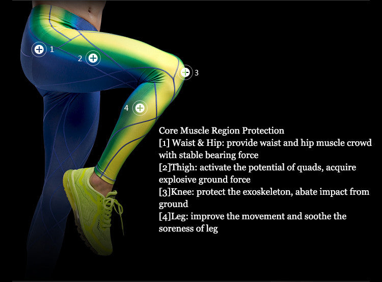 Core Muscle Region Protection:[1] Waist & Hip: provide waist and hip muscle crowd with stable bearing force;[2]Thigh: activate the potential of quads, acquire explosive ground force;[3]Knee: protect the exoskeleton, abate impact from ground;[4]Leg: improve the movement and soothe the soreness of leg