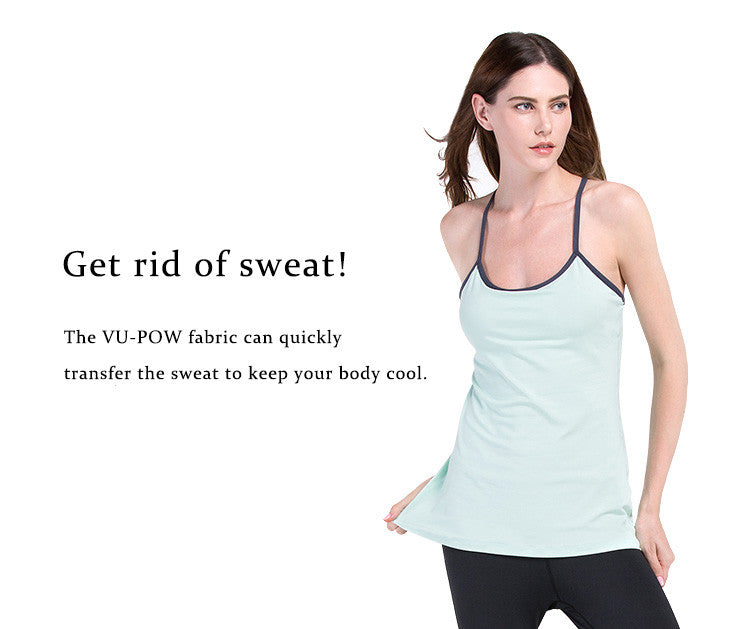Get rid of sweat.The VU-POW fabric can quickly transfer the sweat to keep your body cool.