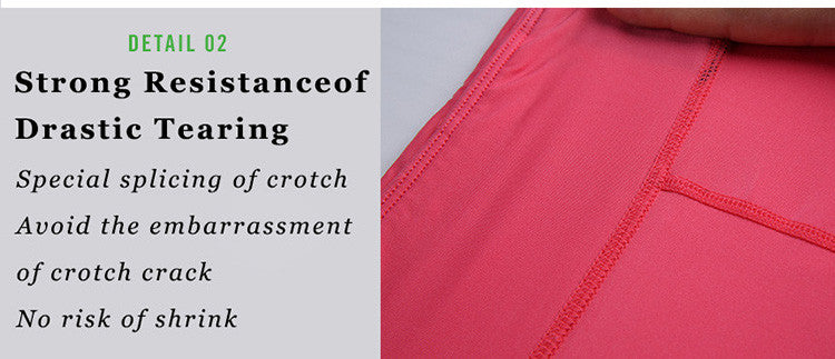 Strong resistance of drastic tearing; Special splicing of crotch;Avoid the embarrassment of crotch crack; No risk of shrink.