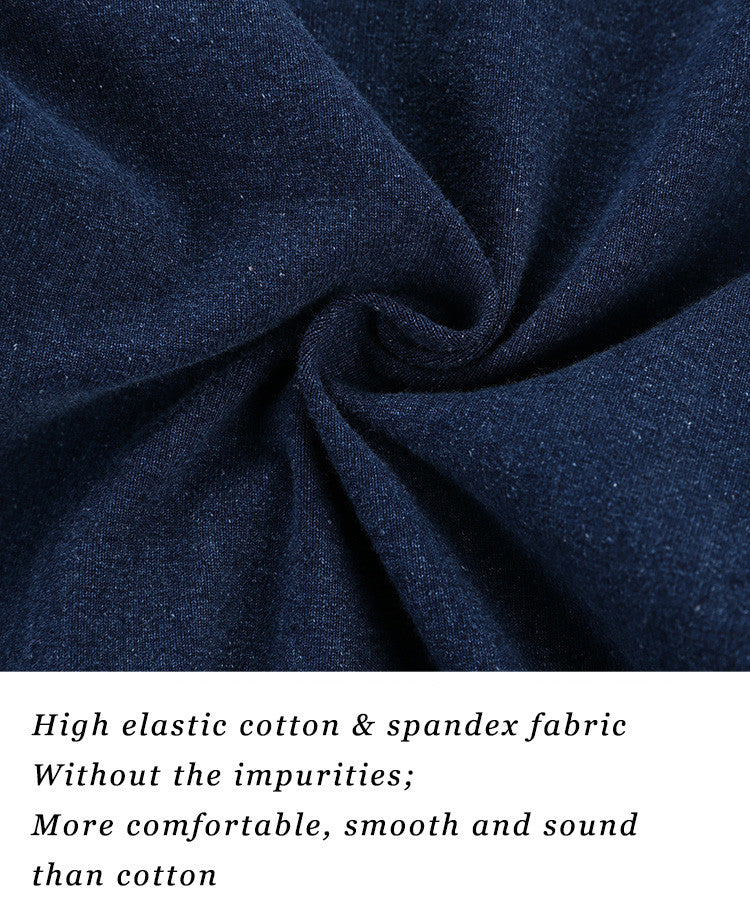 High elastic cotton & spandex fabric; Without the impurities; More comfortable, smooth and sound than cotton.