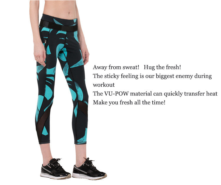 Away from sweat!Hug the fresh! The sticky feeling is our biggest enemy during workout; The VU-POW material can quickly transfer heat; Make you fresh all the time!