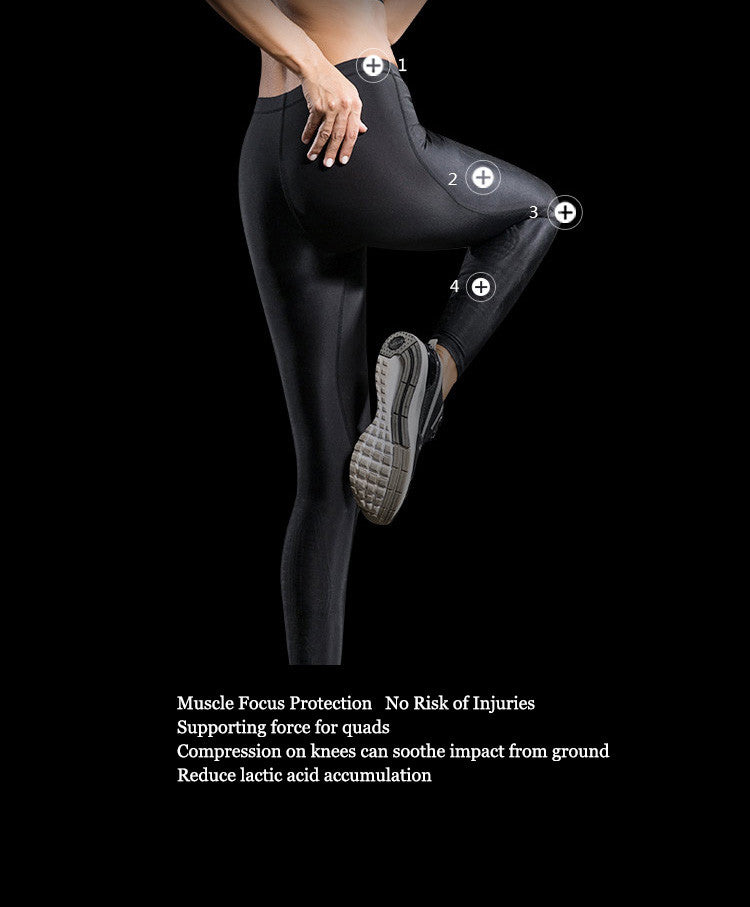 Muscle Focus Protection,No Risk of Injuries,Supporting force for quads.Compression on knees can soothe impact from ground.Reduce lactic acid accumulation