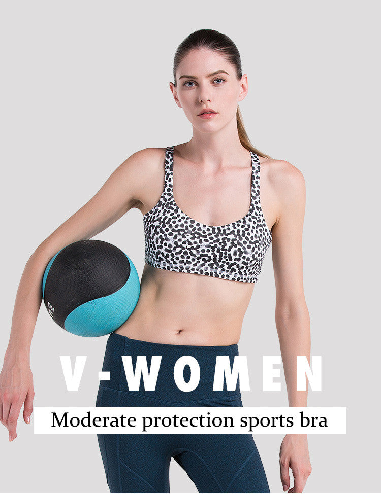 Moderate protection sports bra